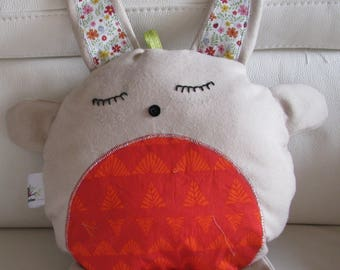 DOUDOU musical Bunny zipper pillow