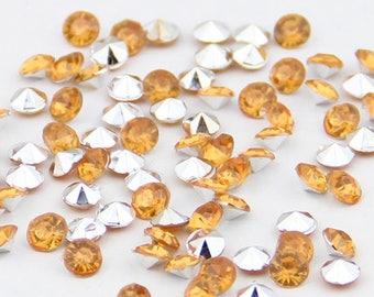 Orange rhinestones acrylic (x 40)
