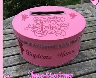Urn envelopes for a baptism or birthday fairy box