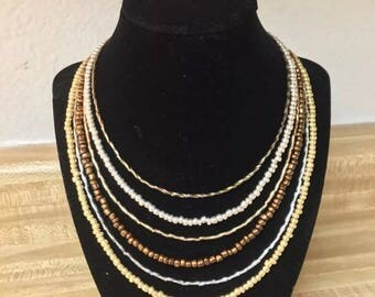 6-Layer Beaded Necklace