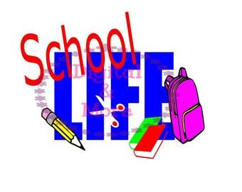 SVG - School Life Svg - Back To School Svg - School Dxf -  Vinyl Design - DIY T Shirt - Life Svg - School Svg - Pn