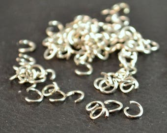 X 500 rings, silver, 5x0.7 mm