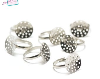 10 supports sieve, silver rings