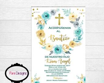 Mi Bautizo Invitation, Bautizo Invitations, Virgen Invitation, Mexican Bautizo Invitation, Invitaciones Bautizo