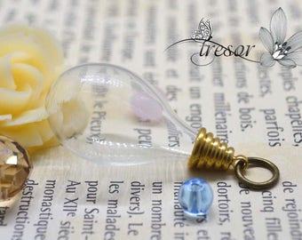 glass vial, bottle, 18x30mm, hat