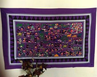 Handmade embroidered Hmong life story cloth