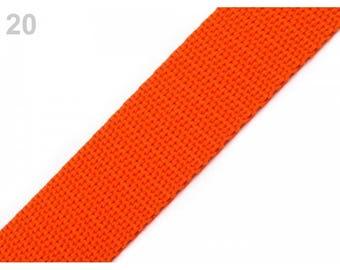 1 meter of strap 20 mm orange nylon