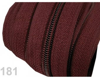 25 M Brown zipper mesh 5 mm spiral