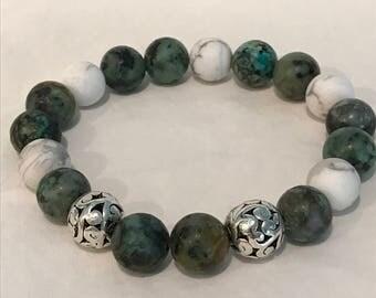 Green Howlite Bracelet