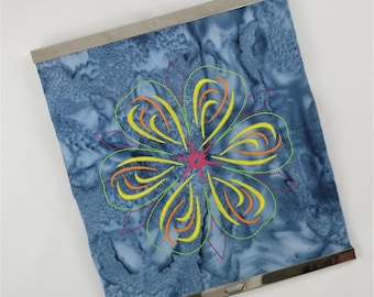 Embroidered Clutch Wallet - Kaleidoscopic Blossom