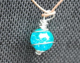 Blue Green Ocean Choker Necklace