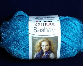 Red Heart Boutique Sashay Turquoise Ruffle Yarn