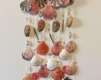 Exotic seashell wall decor/wind chime