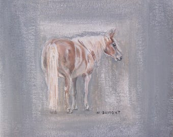 painting portrait animal horse