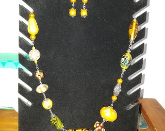 It's summer time Necklace with matching earrings
