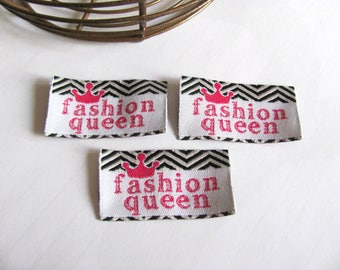 Set of 3 Appliques labels for sewing or craft