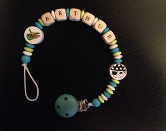 Blue and green themed pacifier pacifier sailor ARTHUR
