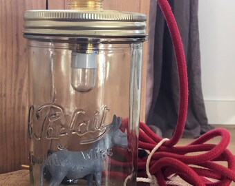 """Lamp """"Perfect"""" donkey red and gray"""