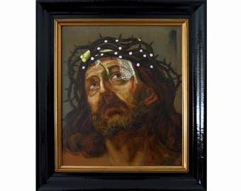 Frog florets, Jesus, Christ with frog