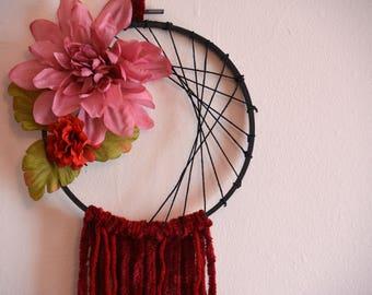Red Floral Dreamcatcher