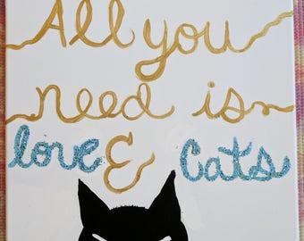 Cat canvas art