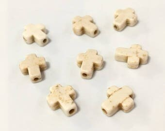 X 40 cross beads 10x8mm ❤ ❤
