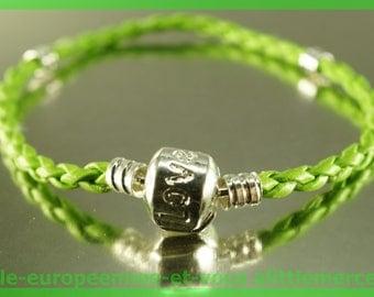 love for leather N107 European Bead Bracelet 20cm charms