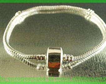 N49 magnetic clip 19cm for European charms Pearl silver bracelet