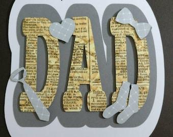 Handmade dad shaped card