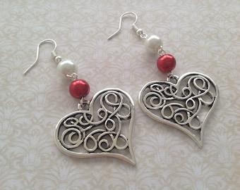 Heart Earrings costume jewelry