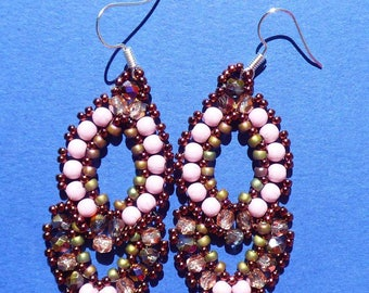 Victorian style beaded earrings