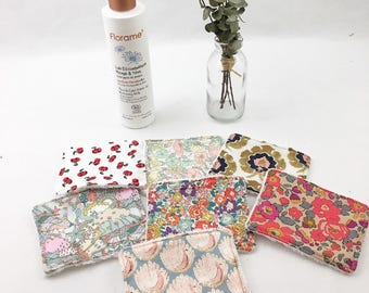 Set of 7 wipes washable Liberty