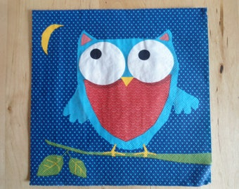OWL on branch 2 napkin designs 33 x 33