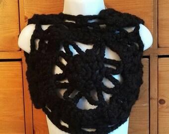 Black girl boho Bolero brilliant crochet.
