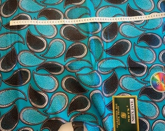 wax from 25 cm: African turquoise fabric