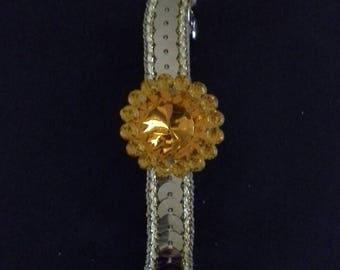 1 gold and orange head clip