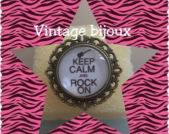 "bronze Adjustable ring ""rock'n roll"""