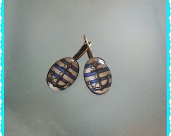"Bronze fancy earrings ""marine"""