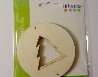 Circles decorate - wooden trees to personalize - decorations - wreaths