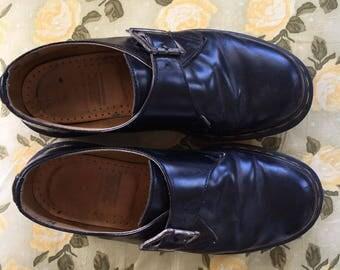 Vintage Black Low Cut Doc Martens With Buckle : UK Size 5