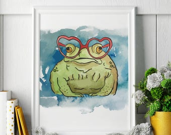 Cane Toad - Watercolor Painting - Cane Toad Art - Cane Toad Painting - Cane Toad Print - Animal Watercolor Print