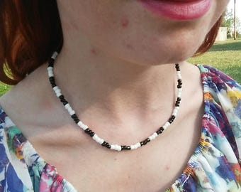 Black and White checkered choker