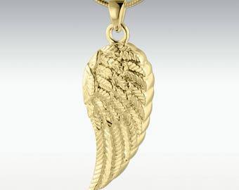 9ct Gold Wing of an Angel Pendant