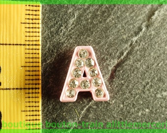 bead toned N3 letter bandwidth rhinestone alphabet for bracelet
