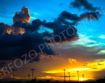The Yellow Sunset Print