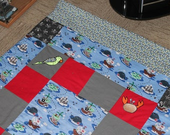 Carpet fabric for baby or child, pirate theme, patchork XXL.
