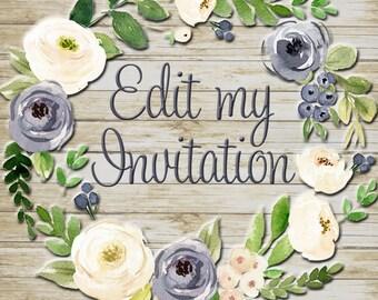 Edit My Invitation