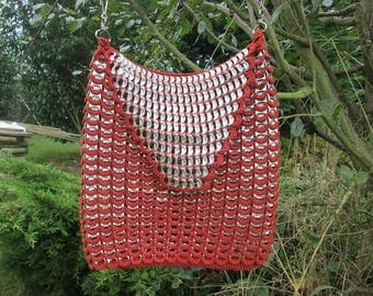 bag 1192 tabs on cans, upcycled, handmade n: 13