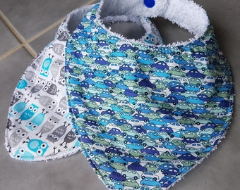 Set of 2 bibs bandanas - 0/2 years