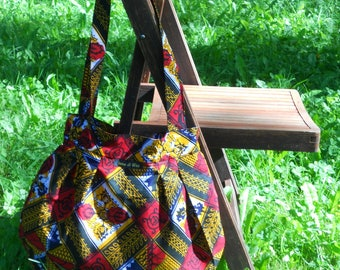 Type 11009 African fabric tote bag